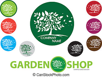 Company Design Logo - garden,tree,v - Vector image for...