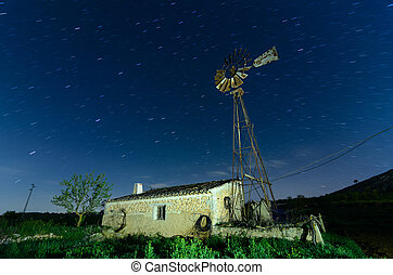 Old Farm Windmill for Pumping Water