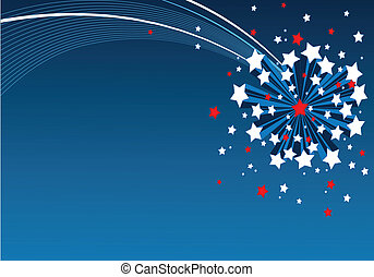 American starburst background - An American starburst...