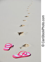 Flip-flops on the beach