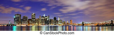 Lower Manhattan from across the East River in New York City.