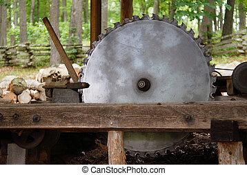 An Old Carriage Saw - A working old sawmill