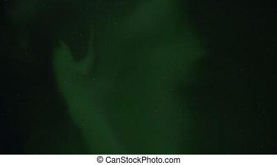 Aurora Borealis Stars Cassiopeia - Staring straight up into...