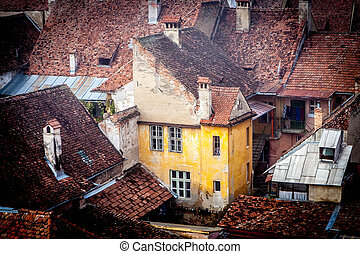 Old house from Sighisoara medieval city, Europe - Romania