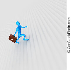 3d person climbing the ladder
