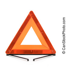 Red warning triangle - Warning accident traffic sign Red...