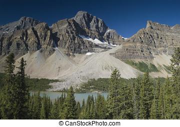 Banff National Park Crowfoot Glacier - Crowfoot Glacier in...
