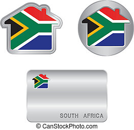 Home icon on the South Africa flag