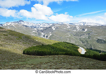 Spring view of Sierra Nevada - The Sierra Nevada is a...