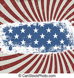 American patriotic background. Vintage style. Vector, EPS10