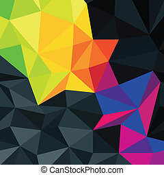 Abstract triangles background with colorful accented area,...