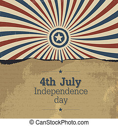 Poster design for 4th july celebration. Vector, EPS10