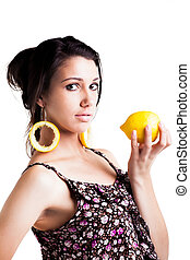 lemon-lobes - a confident caucasian young woman with dark...