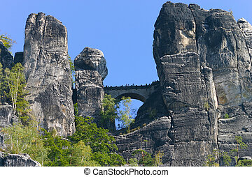 Bastei at Elbsandsteingebirge Saxony Germany
