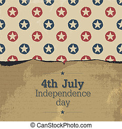Independence day vintage poster. Vector, EPS10