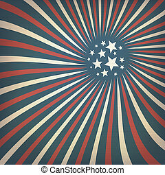 Abstract american flag themed background with stars. Vector, EPS10