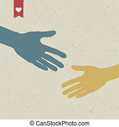 Abstract hand shake Vector, EPS10