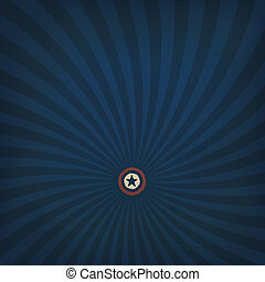 Abstract american themed background with star. Vector, EPS10