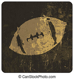 American football illustration. With grunge texture. Vector