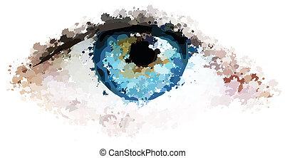 healthy eyes clean looking vector illustration