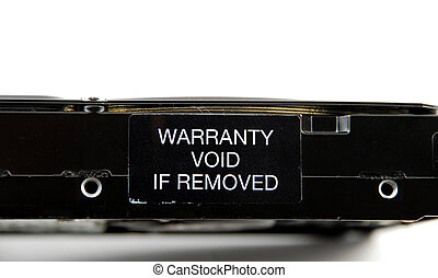 Warranty void - Stock pictures of a warranty void label