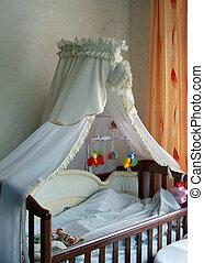 primer plano, Esquina, bebé, dormitorio