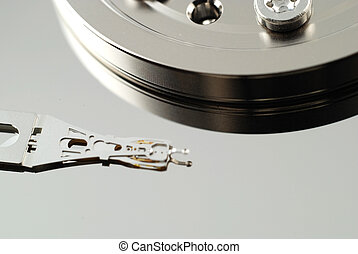 Close up of hard drive error - Close up of the defect in...