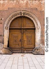 Ancient entrance door