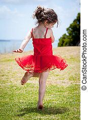 bailando, niño
