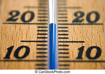 Thermometer macro frontal depth of field