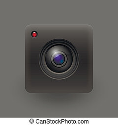 Camera lens. Vector illustration. Eps 10