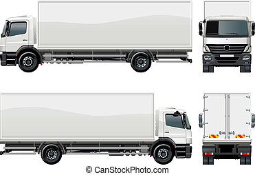 delivery cargo truck Available EPS-8 vector format separated...