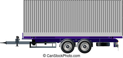 Cargo trailer Available EPS-8 vector format separated by...