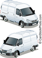 delivery van Available EPS-10 separated by groups and layers...