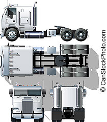 semi-truck - hi-detailed semi-truck Available EPS-8 vector...