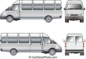 Stratch passenger mini-bus Available EPS-8 vector format...