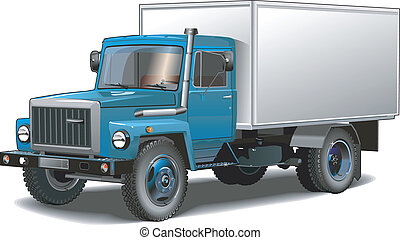 cargo truck isolated - a typical russian truck isolated...