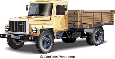 Truck - Cargo truck Available EPS-10 separated by groups and...