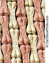 Dog bone food background