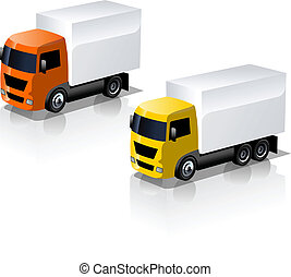 truck icons set - Available EPS-8 vector format separated by...