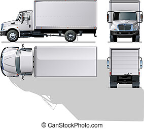 delivery cargo truck Available EPS-10 separated by groups...