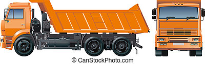 dump truck - Available EPS-8 vector format separated by...
