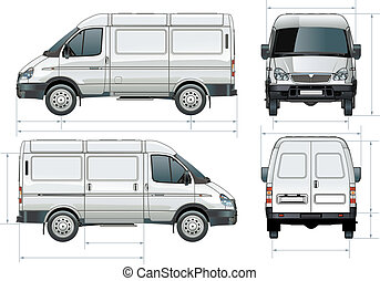 delivery / cargo van - Available EPS-8 vector format...