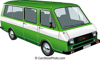 mini bus isolated Available EPS-10 separated by groups and...