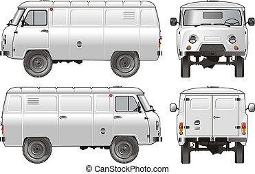 delivery cargo van 4x4 Available EPS-10 separated by groups...