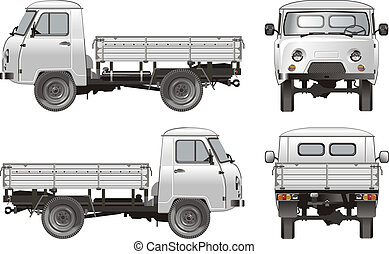 delivery cargo truck 4x4 Available EPS-10 separated by...