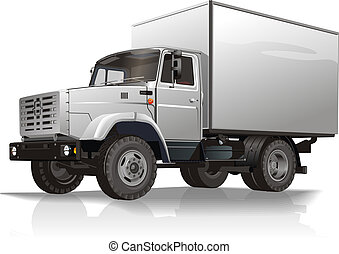 cargo truck Available EPS-10 separated by groups and layers...