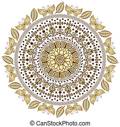 Gold round pattern
