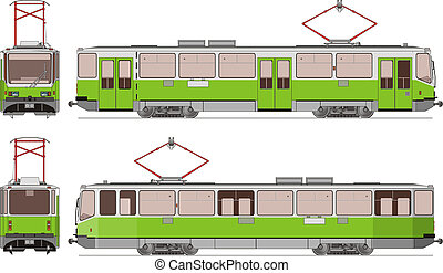 city tram Spectr Available EPS-8 vector format separated by...