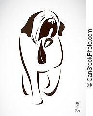 vetorial, imagem, cão